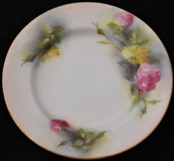 Antique Royal Worcester Plate Decorated With Roses